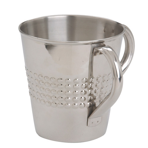 "Less Shiny Stainless Steel ""Netillat Yadayim"" Wash Cup"