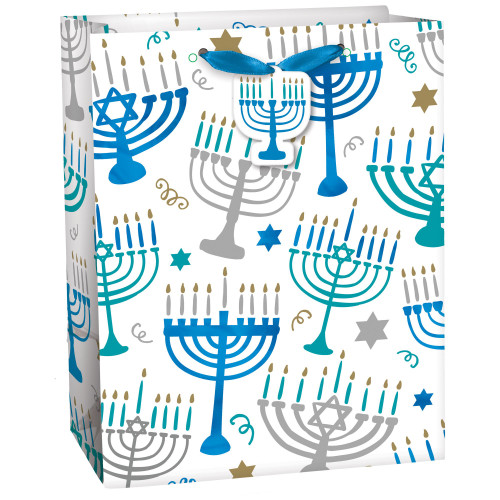 Gift Bags Menorah Design