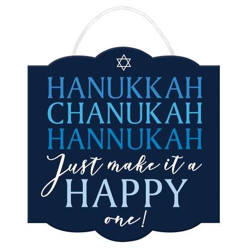 Happy Chanukah Wooden (MDF) Sign