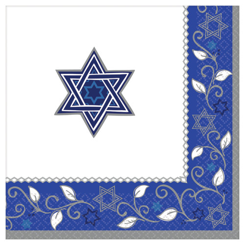 Star Of David Design Dinner Napkins