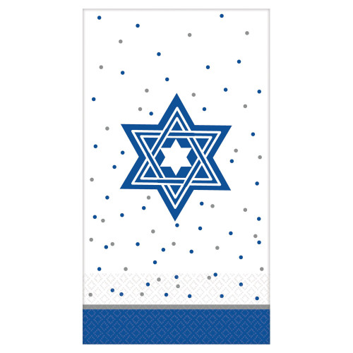 Star of David Design Guest Towels