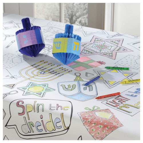 Chanukah Coloring Tablecover