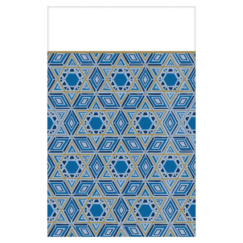 Jewish Holidays Festive Design Plastic Table Cover