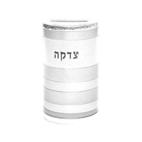 Emanuel Anodized Silver Tzedakah Box Rings