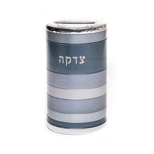 Emanuel Anodized Gray Tzedakah Box Rings