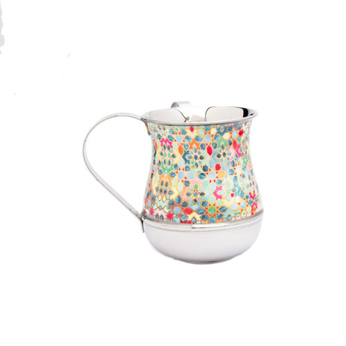 Emanuel Metal Washing Cup-M/C-Abstract Design
