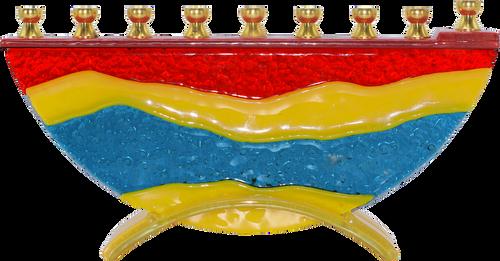 Hand Crafted Glass  Menorah Desert  Miracles