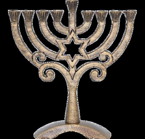Antiqued Menorah Bronze