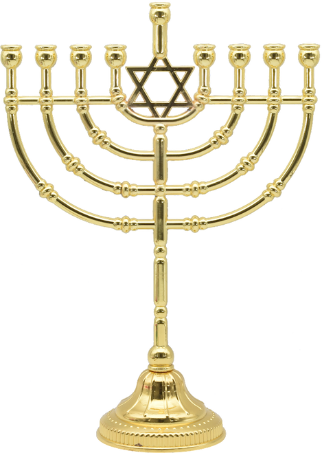 """12"""" Traditional Menorah (Gold Plated) W: 8.75"""" H: 12"""""""