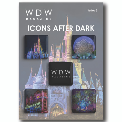 WDW Magazine Buttons Series 2 - Park Icons After Dark