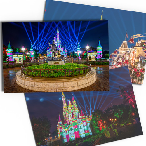 Cinderella Castle Christmas Cards from WDW Magazine.