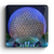 Spaceship Earth at night button