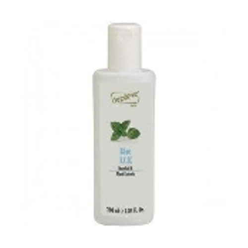 After waxing gel with Menthol. Enriched with plant exrtacts, this gel is formulated to cool, and soothe the skin.