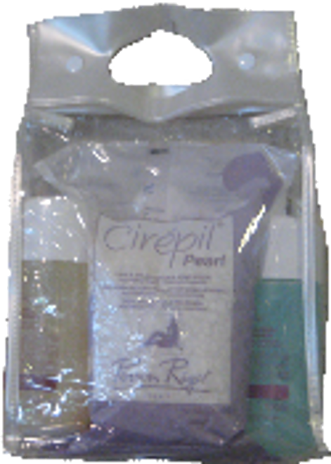 Kit! Cirepil Hypoallergenic Introductory Kit (includes: Pearl 800 g bag, Cristal Lotion 250 ml, Pearlescent Oil 250 ml, Vinyl Tote)