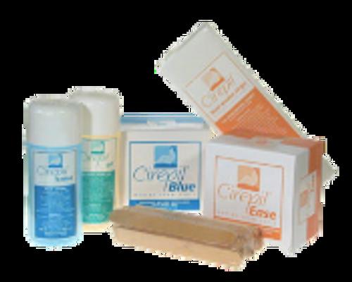 Cirepil Wax Starter Kit: includes 1 Ease 400g, 1 Blue Tin 400g, 1 Blue Lotion 250 ml, 1 Pre-Depilatory 250 ml, 125 pak Waxing Strips, 1 25 pak Spatulas, Vinyl Case
