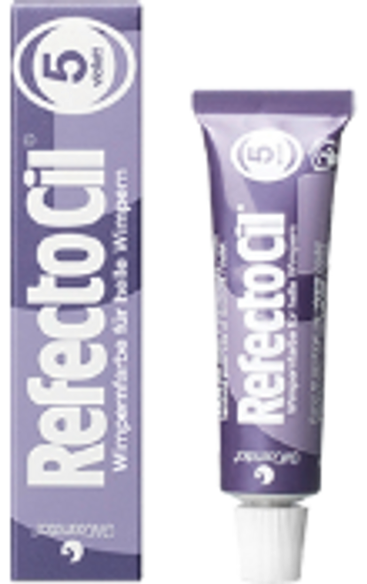RefectoCil No. 5 violet is a hair tint, especially made for women with light blonde to blonde eyelashes.