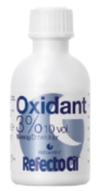 RefectoCil Oxidant 3% liquid is a stabilized developer especially formulated to be used with RefectoCil European hair dyes.
