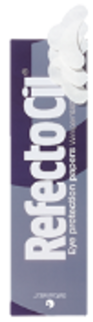 RefectoCil Eye protection papers protect the lower eyelids of the client against unwanted staining.  Content: 80 pads units. Sufficient for 40 applications.