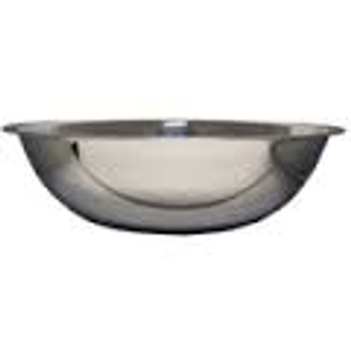 Large stainless steel bowl.