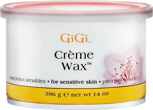 Gigi Tea Tree Creme Wax 14 oz.  Creme formula; ideal for sensitive skin.