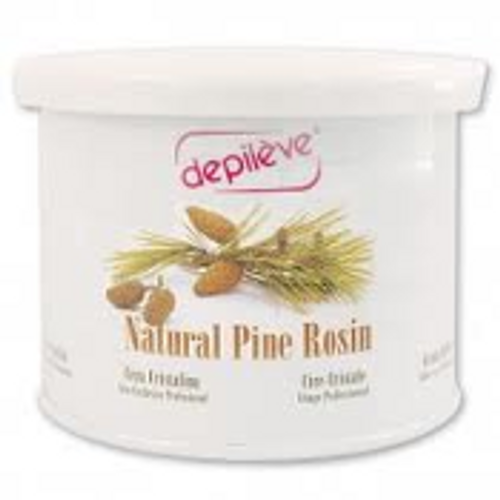 Depileve's original Pine Rosin wax has a thin, easy-to-use consistency.  This 14 oz. is perfect for large areas.