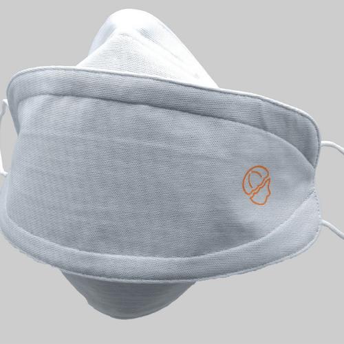 Masque à deux couches blanc premium, tendance et réutilisable - Ribcap