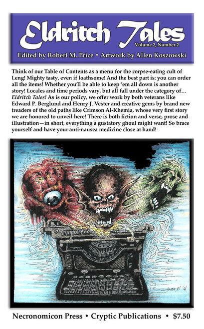 Eldritch Tales #4 edited by Bob Price /& published by Necronomicon Press!