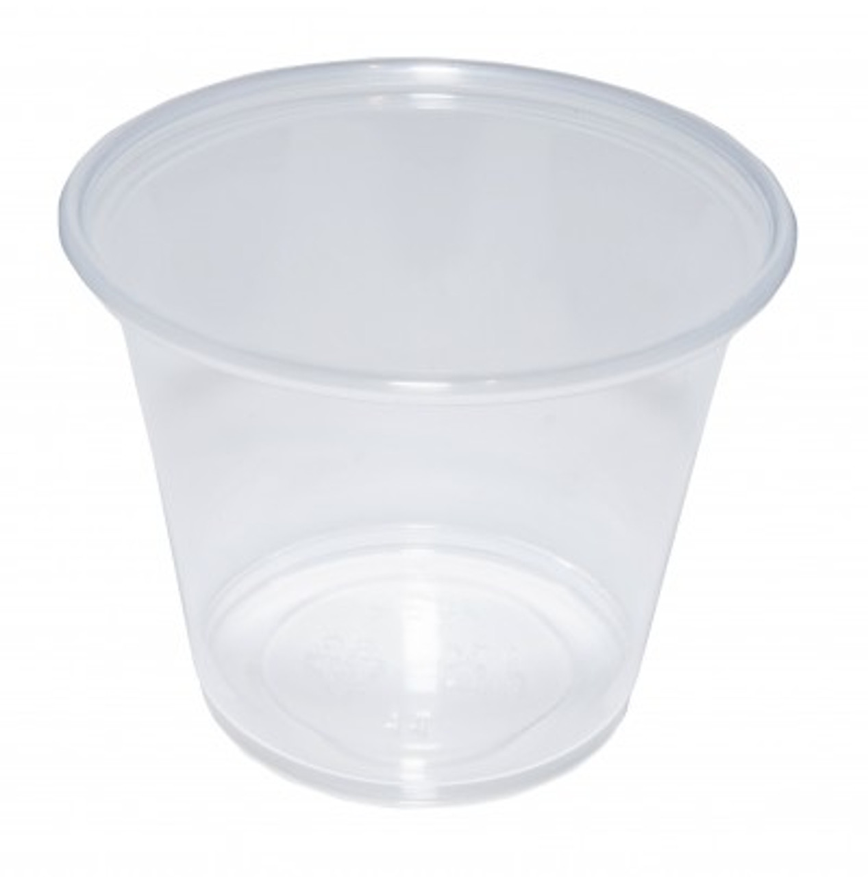Plastic Clear Sauce Pot Base Only 2oz- Pack Size 2000