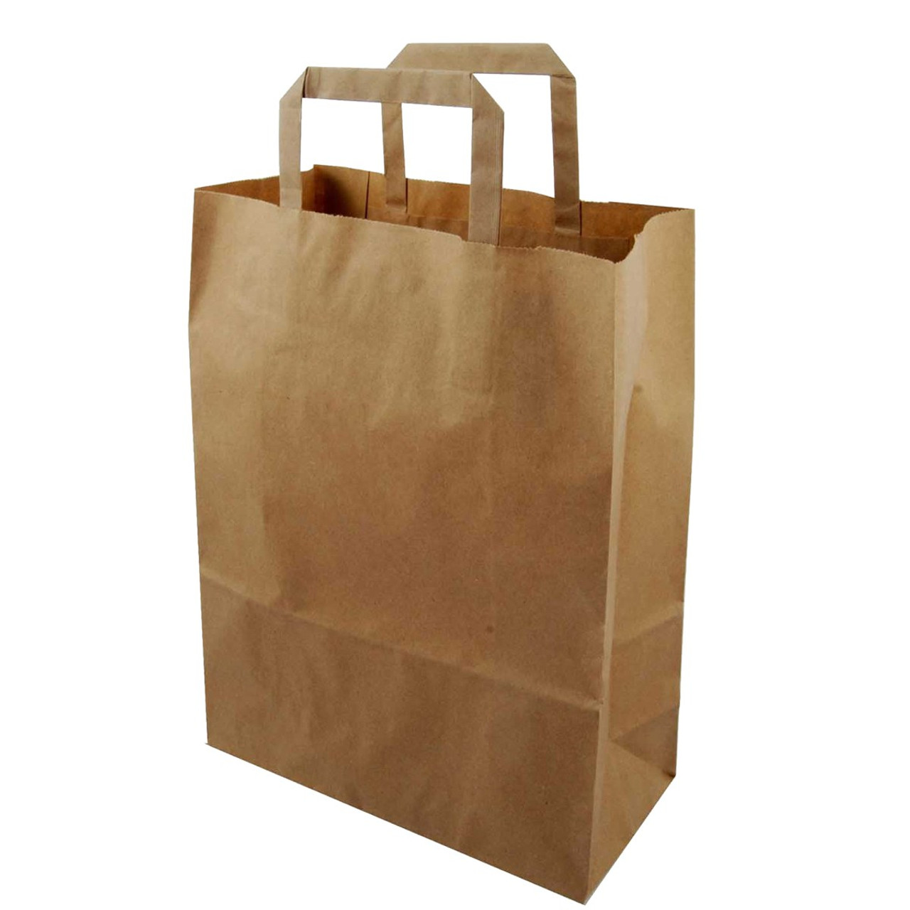 Brown Paper Take Away Bags with Handles - Medium