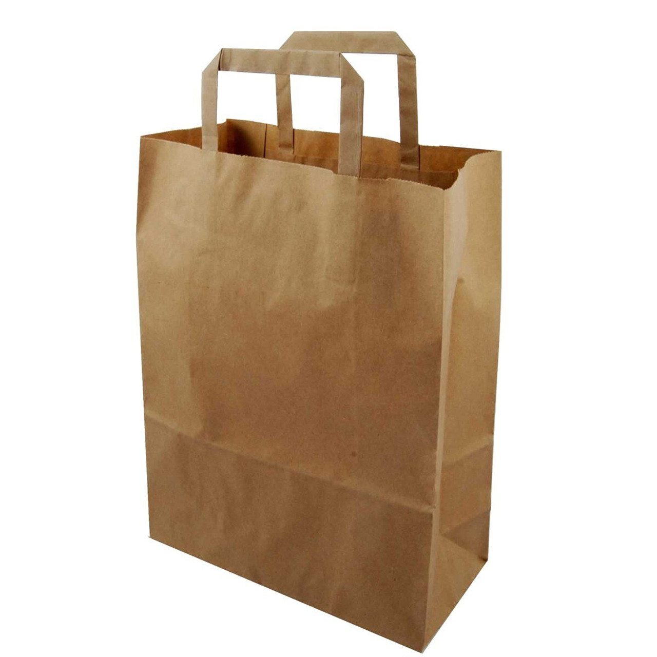 Brown Paper Take Away Bags with Handles - XXL