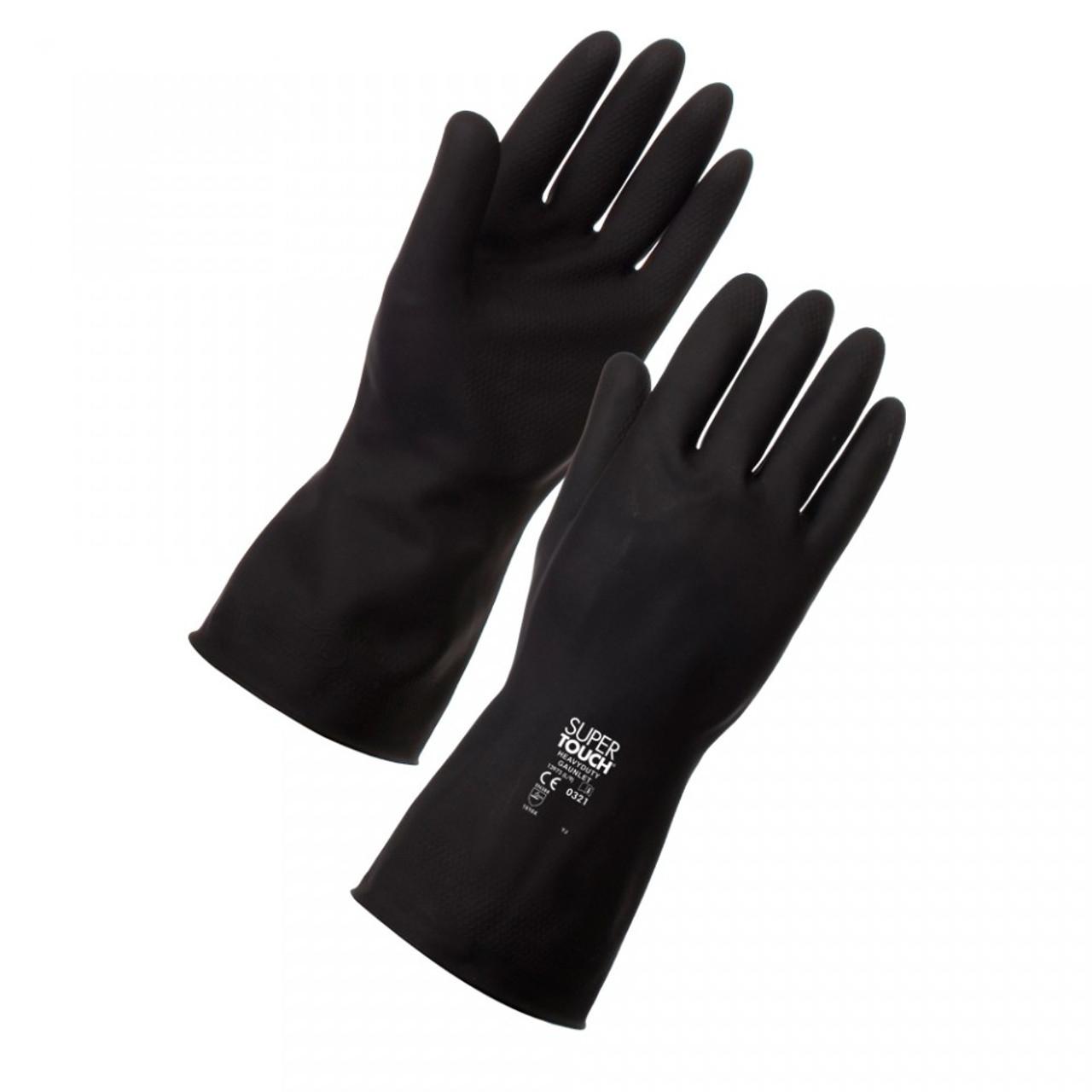 Heavy Duty Latex Gloves Black Pack Size 1 Pair