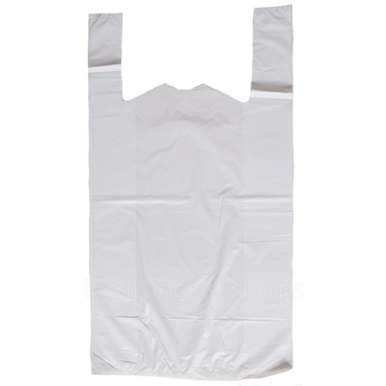 White Plastic Carrier Bags Large Pack Size 1000