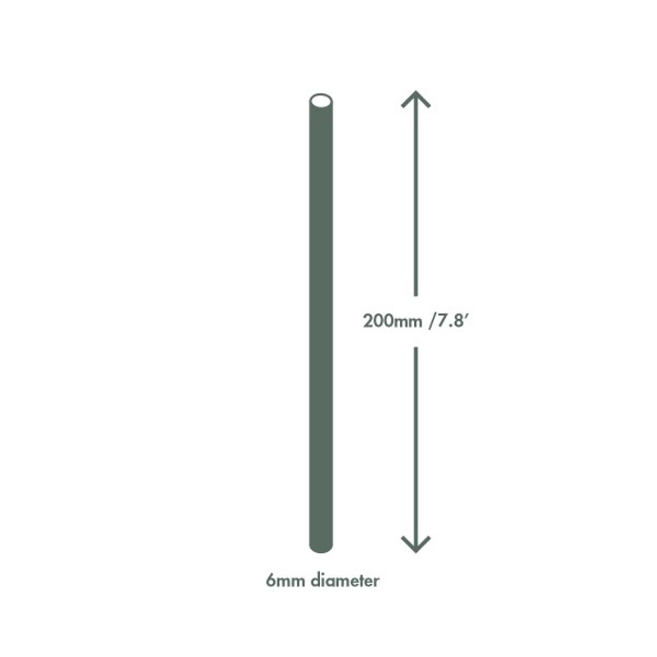 Black Paper Straws Highball  6mm 7.8in