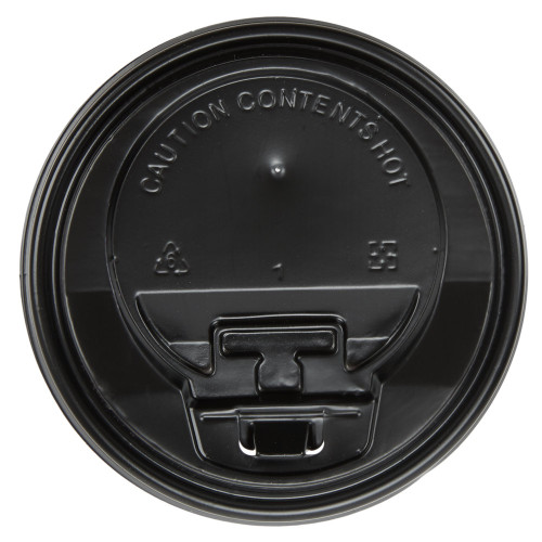 Hot Drink Cup Lid Black Closable Sip Through 12oz Pack Size 50