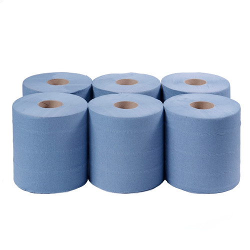 Centre Feed Blue 2ply 150mx175mm Pack Size 6