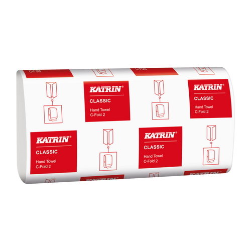 Katrin Classic Hand Towels C-Fold 2Ply Pack Size 2250 Sheets