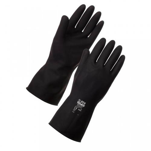Heavy Duty Latex Gloves Black Pack Size 1 Pair
