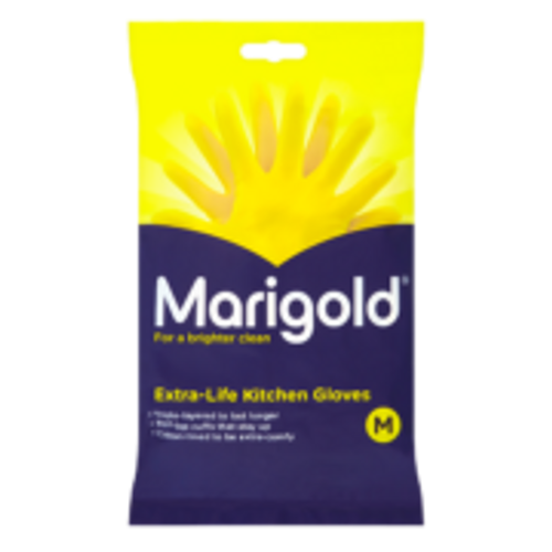 Marigold Extra Life Yellow Kitchen Gloves Pack Size 6 Pairs