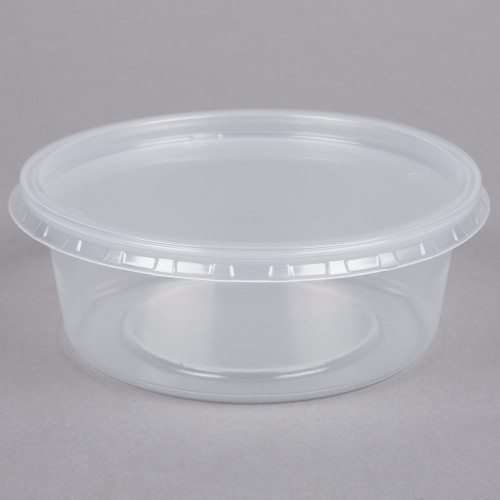 Deli Pot Clear With Lid 8oz Pack Size 250
