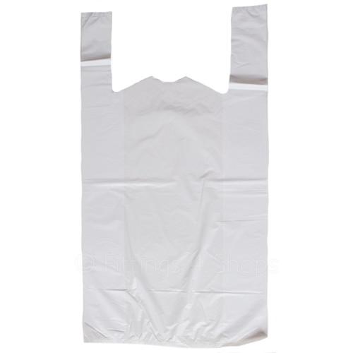 White Plastic Jumbo Carrier Bags Pack Size 1000