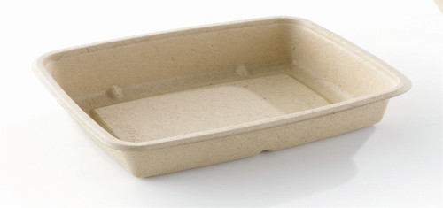Sabert Rectangular BePulp Container Base only 950ml Pack Size 150