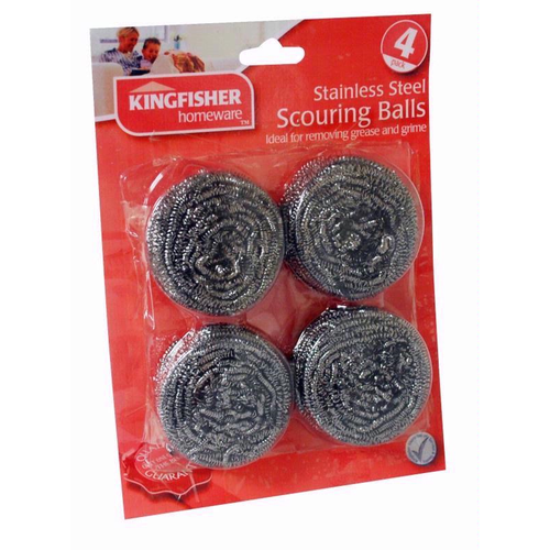 Stainless Steel Scourers  Pack Size 4