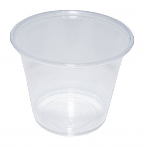 Plastic Clear Sauce Pot Base an Lid 2oz- Pack Size 500