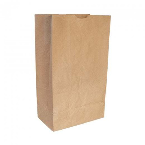 Brown Paper Take Away Bags Without Handles - Large