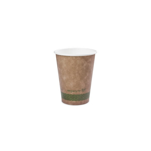 Vegware Brown Kraft Single Wall Hot Drinks Cup 8oz Pack Size 1000