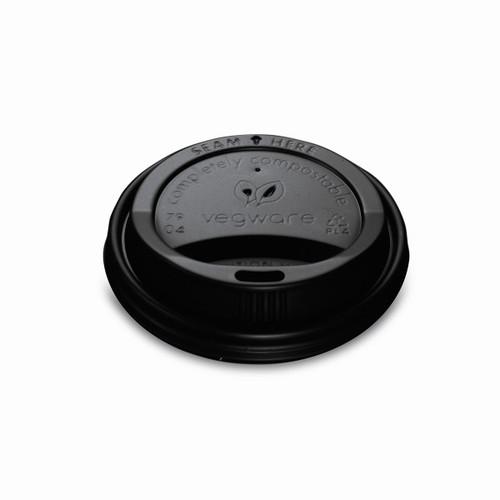 Vegware 8/10oz Hot Cup Lid Black Pack Size 1000