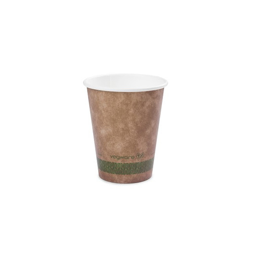 Vegware Brown Kraft Single Wall Hot Drinks Cup 12oz Pack Size 1000
