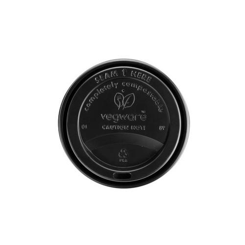 Vegware 12/16oz Hot Cup Lid Black Pack Size 1000
