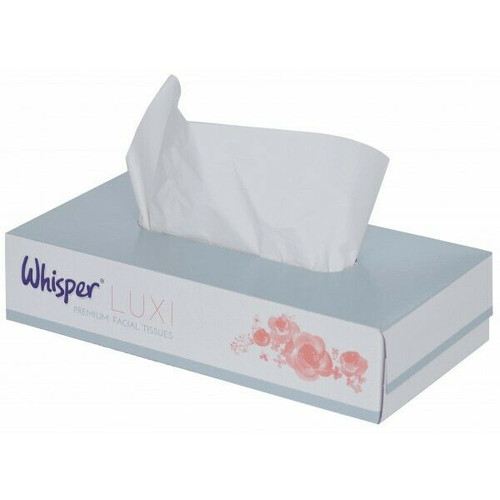 Whisper Facial Tissues White Pack Size 36