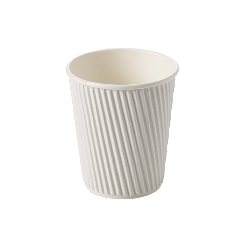 Hot Drink Cup Ripple Wall White 12oz Pack Size 25